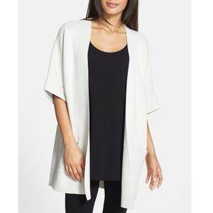 NEW Eileen Fisher Elbow Silk Cotton Long Jacket